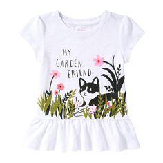 Toddler Girls' Graphic Peplum Tee