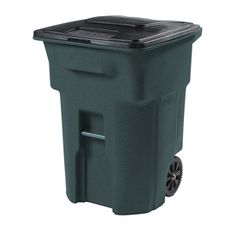 I found this a Lowes today for 75% off !!  its perfect for Grant's Place......Toter�96-Gallon Greenstone Indoor/Outdoor Garbage Can