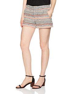 Clothing, Shoes & Jewelry > Women > Clothing > Shorts > Joie Women's Merci Short, Santorini Blue, 4 Get Price Button-zip closure. Shorts Outfits Women, Short Outfits, Spring Shorts, Short Blonde, Boho Shorts, Women's Shorts, Santorini, Patterned Shorts, Mini Skirts