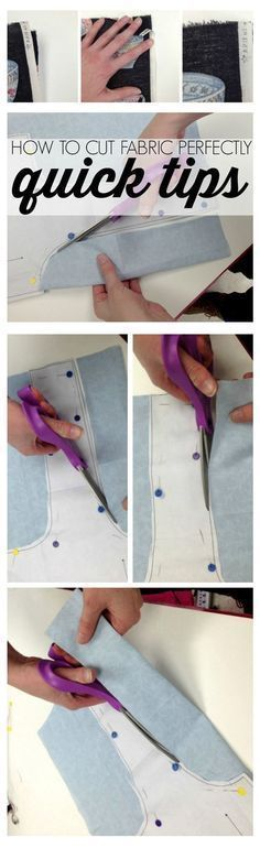 Sewing Hacks | Best Tips and Tricks for Sewing Patterns, Projects, Machines, Hand Sewn Items. Clever Ideas for Beginners and Even Experts | How to Cut Fabric Perfectly | http://diyjoy.com/sewing-hacks