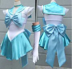 Sailor Moon cosplay Sailor Mercury cosplay costume Sailor Scouts Amy dress Halloween costume christmas xmas gift valentine's day gift ball prom dress