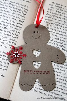 Gingerbread Man Christmas Tags Set of Eight by TheVintageVeranda. , via Etsy.