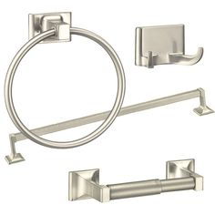 Arista 3602 Summit 4Piece Bathroom Hardware Set With Recessed Stunning Brushed Nickel Bathroom Accessories Inspiration Design