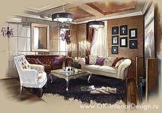 Интерьер домашнего кинотеатра в стиле ар-деко  http://www.ok-interiordesign.ru/ph_risovannye-interiery.php