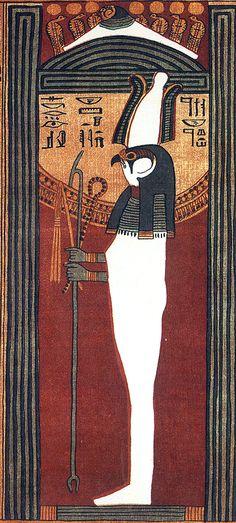 Sokar-Osiris est un dieu momiforme hiéracocéphale, fusion de deux divinités funéraires. Osiris est le souverain du monde de l'au-delà & le juge suprême des lois de Maât. Sokaris veille sur la nécropole de Saqqarah, et il est également vénéré à Memphis. C'est la déification de la séparation du bâ & du ka, ce qui correspond à peu près à la séparation de l'âme & du corps après la mort - Papyrus d'Ani, Livre des morts des anciens Égyptiens - Vers 1250 avant notre ère, XIXe dynastie - British…