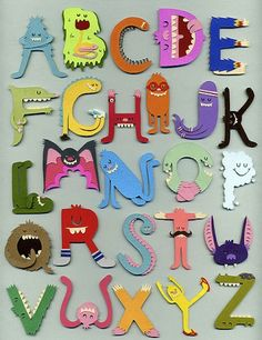 Monster alphabet. I love it & I know my little monster would too!