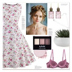 """""""Spring Pretty"""" by mycherryblossom ❤ liked on Polyvore featuring NYX, vintage and plus size dresses"""
