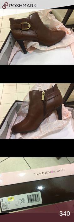 "Bandolino ""Layita"" booties Bandolino Ankle Boots!!!! ""Layita"" - size 8 - Cognac color!  PERFECT FOR FALL 🍂 brand new with box! Bandolino Shoes Ankle Boots & Booties"
