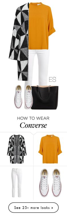 """Look 293"" by ellesungte on Polyvore featuring Frame, Converse, Winter, polyvorefashion and polyvoreset"