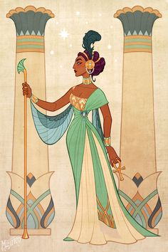 """The Arcana - madamemystico: """"Book XI was amazing. Have a Nadia as Maat, the Egyptian goddess of justice. Art And Illustration, Character Illustration, Cartoon Kunst, Cartoon Art, Fantasy Kunst, Fantasy Art, Character Sketches, Character Art, Game Character Design"""