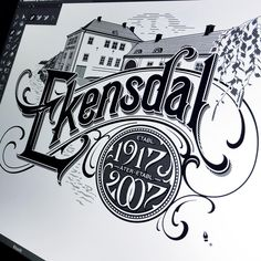 Ekensdal designed by Martin Schmetzer. Connect with them on Dribbble; the global community for designers and creative professionals. Vintage Lettering, Vintage Type, Typography Letters, Grafik Design, Caligraphy, My Arts, Instagram Posts, Logo Ideas, Stockholm