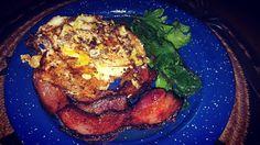 Link in bio#thatchillaxdude  Bacon eggs and a garnish! Yes I eat the green stuff too. #followyourarrow #travel  #wandern #travelbug #travelgram #wanderlust #notallwhowanderarelost #instalike #instatravel #instatraveling #photography #holiday #tourism #followme #travelblogger #passportready #worldtravel #natgeo #wander #love #breakfast #bacon #eggs #overeasy #spinach #enamelware