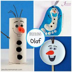Dix idées bricolages pour recréer Olaf, le fameux bonhomme de neige du film Frozen / La reine des neiges.