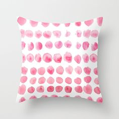Watercolor+dots+Throw+Pillow+by+Craftberrybush+-+$20.00