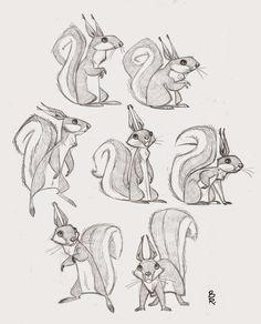 Art by Barry Reynolds* • Blog/Website | (http://barryreynoldsfeaturedesign.blogspot.com)   squirrel
