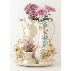 【Anthropologie】花とミツバチのにぎやかな花瓶 #24509689