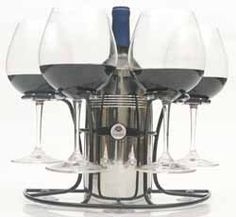 Wine Glass & Wine Bottle Holder. Suction Cup Base. Use on Boats, RVs & Bar/Counter or Bathtub at Home. No More Spills/Glass Breaking