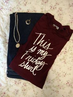 This is my Friday shirt-Mississippi State maroon by MimosaDarling