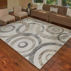 Torino Rug Collection Circles 9x13