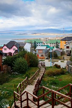 The Southern most town. Ushuaia, Argentina (Pic by Sean Norman) #travel, world, places, nature, landscape). You cross the Drake Passage south to get to Neko Harbor & Port Lockroy on Antarctica where there's only 2 weeks of summer). The L'austrial Ship will cross it.°°