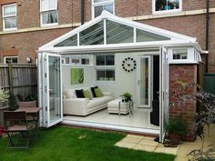 Ultraframe Gable conservatory with bi-folding doors