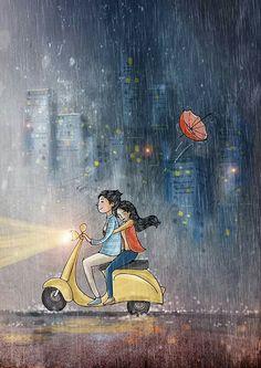 70 Trendy Ideas for wallpaper art illustration couple Love Cartoon Couple, Cute Couple Art, Anime Love Couple, Art And Illustration, Cartoon Cartoon, Cute Love Cartoons, Love Wallpaper, Trendy Wallpaper, Love Art