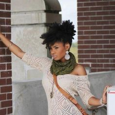 Natural hair - African American Hair - Twist out style
