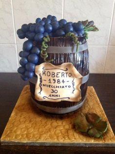 Wine cask cake