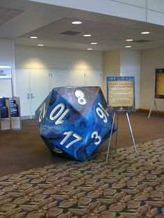 giant d20 dice (I would so bring this to D)