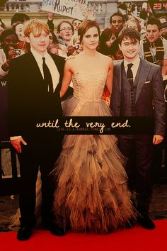 I love these three! It is all over in terms of books and movies, but Harry Potter will live forever!