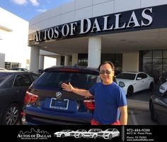 Autos of Dallas Customer Review  It was such an amazing experience shopping here at Autos of Dallas! I'm from Ohio visiting my parents for their 55 wedding anniversary and thought to look around for a used car because the inventory is huge here in Dallas. I went to three other places and decided to buy my car here which was a 2015 BMW X3. I can't say enough about how professional Bob Tauber was. He was terribly patience and straight forward.  The process took no time at all. I highly…