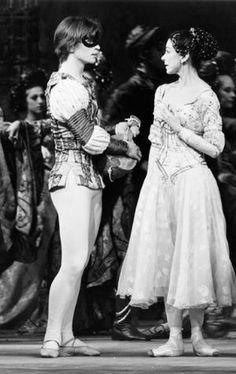 Rudolf Nureyev and Margot Fonteyn in MacMillan's Romeo and Juliet. Photo by Frederika Davis, 1965. by bobbie