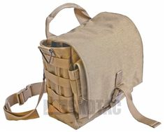 End pouches are now MOLLE for increased options, thigh strap replaced with a removable waist belt, and the belt clips are removed entirely. Shoulder strap now uses an HK style clip for durability.