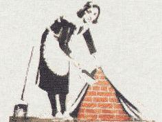 Banksy Cross Stitch