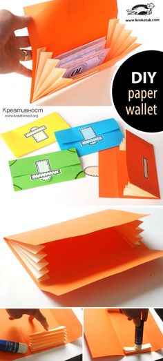 DIY paper wallet More