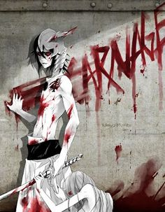 Ulquiorra: Carnage. this picture is awesome | bleach