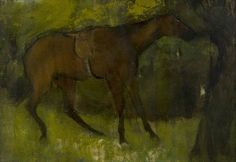 The Athenaeum - Horse Tied to a Tree (Edgar Degas) 1873