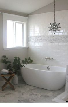 Home Bathroom with Subway Tiles - Transitional - bathroom - Greige Design Unravelling The Mystery Of Bathroom Renos, Master Bathroom, Design Bathroom, Brown Bathroom, Bathroom Cabinets, Bathroom Vanities, Marble Tile Bathroom, Marble Mosaic, Marble Floor