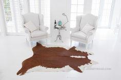 Jersey Road - Hereford Brown & White Cowhide Rug $329