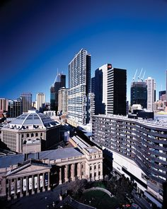 """State Library, Melbourne Australia ... Possibly a shot from the top of """"Melbourne Central"""", one of Victoria and Melbourne's many shopping hubs."""