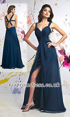 long prom dress with straps