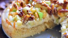 Stop Everything…Make This Cream Cheese Pecan Caramel Apple Pizza With A Sugar Cookie Crust.