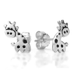 925 Sterling Silver Small Cute Giraffe Post Stud Earrings 15 mm Fashion Jewelry for Women, Teens, Girls - Nickel Free: Jewelry: Amazon.com
