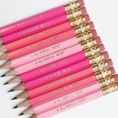 Mini Golf Pencils - Pink Ombre <3