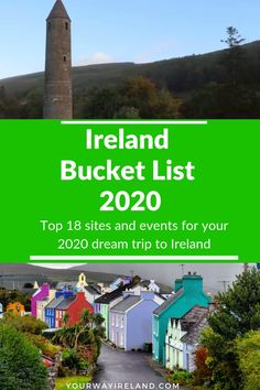 Ireland Travel Bucket List 2020 - Ireland 2020 - Ireland Travel Bucket List 2020 There's many reasons to take a trip to Ireland in 2020 but we've decided to rank 18 of our favourites to help you compile your ideal Ireland itinerary go link to read more… Ireland Travel Guide, Traveling To Ireland, Ireland Hiking, Backpacking Ireland, Uk Destinations, Ireland Vacation, Culture Travel, Northern Ireland, Galway Ireland