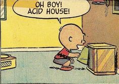 Charlie Brown discovering the joys of Acid House