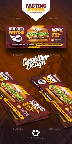 Fast Food Burger Cover Templates - Facebook Timeline Covers #Social #Media Download here: https://graphicriver.net/item/fast-food-burger-cover-templates/20041890?ref=alena994