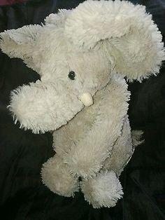 "JELLYCAT 8"" cream cute ELEPHANT baby soft plush comforter toy great Xmas gift"