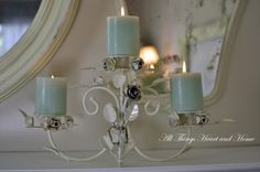 shabby chic mantle decor