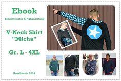 Nähanleitungen Mode - Ebook V-Neck Shirt MICHA Gr. L-4XL - ein Designerstück von Boerlinerin bei DaWanda